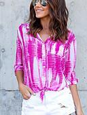 billige Skjorter til damer-Skjortekrage Skjorte Dame - Fargeblokk Fuksia