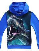 povoljno Majice s kapuljačama i trenirke za dječake-Djeca Dječaci Osnovni Dinosaur Print Print Dugih rukava Trenirka s kapuljačom Crn