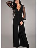 povoljno Ženski jednodijelni kostimi-Žene Crn Jumpsuits, Jednobojni S M L