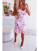 זול שמלות מיני-עד הברך דפוס, פרחוני - שמלה סקייטר\מחליקה על הקרח בסיסי בגדי ריקוד נשים