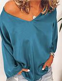 ieftine Bluză-Pentru femei Bluză Mată Alb