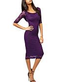 hesapli Kadın Elbiseleri-Kadın's Kılıf Elbise - Solid Midi