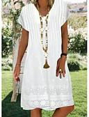 זול חולצות לתינוקות לבנים-עד הברך גיאומטרי - שמלה ישרה אלגנטית בגדי ריקוד נשים