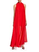 זול שמלות ערב-מעטפת \ עמוד צווארון גבוה עד הריצפה שיפון נשף רקודים שמלה עם קפלים על ידי LAN TING Express