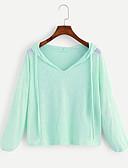 hesapli Bluz-Kadın's Tişört Solid Temel Sarı