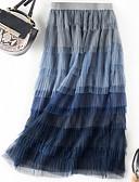 זול חצאיות לנשים-קולור בלוק - חצאיות גזרת A טוטוס בגדי ריקוד נשים פול מידה אחת / שכבות מרובות