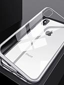 hesapli iPhone Kılıfları-Apple iphone için xs / iphone xr / iphone xs max ultra-ince / şeffaf tam vücut kılıfları şeffaf temperli cam / pc