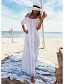 hesapli Maksi Elbiseler-Kadın's Kombinezon Elbise - Solid Maksi