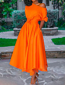 Недорогие Коктейльные платья-А-силуэт На одно плечо Асимметричное Полиэстер Коктейльная вечеринка Платье с Плиссировка от LAN TING Express