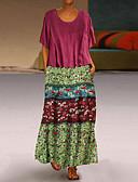 hesapli Maksi Elbiseler-Kadın's İki Parça Elbise - Geometrik Maksi