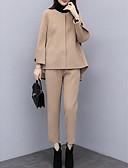 billige Todelt dress til damer-Dame Grunnleggende Sett Bukse Ensfarget