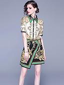 abordables Chemises Femme-Femme Rétro Vintage / Sophistiqué Set - Tartan, Mosaïque / Imprimé Jupe
