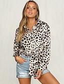 billige T-skjorter til damer-Skjorte Dame - Leopard, Trykt mønster Grunnleggende Hvit