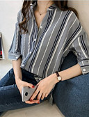 billige Skjorte-Dame - Farveblok Skjorte Hvid