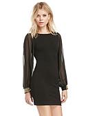 hesapli Mini Elbiseler-Kadın's Sokak Şıklığı Bandaj Elbise - Solid, Örümcek Ağı Diz üstü