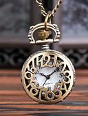 Недорогие Карманные часы-Муж. Карманные часы Кварцевый Старинный Бронза Повседневные часы Cool Аналого-цифровые Винтаж - Бронзовый