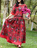 hesapli İki Parça Kadın Takımları-Kadın's Boho Set - Bağcık / Desen, Çiçekli Etek