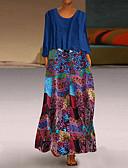 זול שמלות מיני-מקסי קולור בלוק - שמלה סווינג בגדי ריקוד נשים