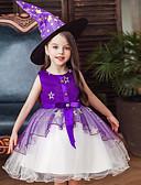 זול שמלות לבנות-שמלה מעל הברך ללא שרוולים טלאים / חג ליל כל הקדושים פעיל / מתוק בנות ילדים