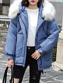 abordables Doudounes & Parkas Femme-Femme Couleur Pleine Court Rembourré, Coton Noir / Jaune / Bleu S / M / L