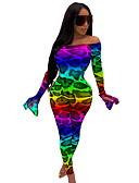 זול סרבלים ואוברולים לנשים-S M L דפוס נמר, סרבלים הארם קשת פעיל בגדי ריקוד נשים