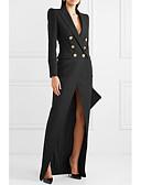 זול שמלות ערב-מקסי אחיד - שמלה נדן בגדי ריקוד נשים