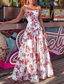 povoljno Maxi haljine-Žene Korice Haljina Cvjetni print Maxi