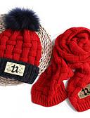 זול ילדים כובעים ומצחיות-מידה אחת ורוד מסמיק / צהוב / כחול ים כובעים ומצחיות כותנה / סריג רומי מסוגנן / סריגה אחיד / אותיות פעיל / בסיסי / מתוק בנים / בנות ילדים / פעוטות