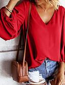 povoljno Majica s rukavima-Majica s rukavima Žene - Osnovni Dnevno Jednobojni Crn