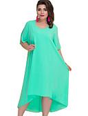 זול שמלות במידות גדולות-מידי אחיד - שמלה סווינג בגדי ריקוד נשים