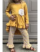 povoljno Kompletići za djevojčice-Djeca Djevojčice Osnovni Prugasti uzorak Halloween Dugih rukava Komplet odjeće Bijela