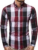 povoljno Majica s rukavima-Majica Muškarci - Osnovni / Elegantno Dnevno / Rad Color block / Houndstooth Plava