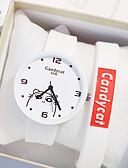 billige Barneklokker-Jente Quartz Mote Svart Hvit Rosa Silikon Quartz Svart Hvit Rosa Hverdagsklokke Smuk 1 stk Analog Ett år Batteri Levetid / Rustfritt stål