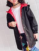 お買い得  女児ジャケット&コート-子供 女の子 ベーシック プリント ジャケット&コート ブラック