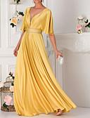 זול שמלות קוקטייל-גזרת A צלילה עד הריצפה סאטן ערב רישמי שמלה עם פרטים מקריסטל על ידי LAN TING Express