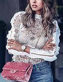 billige Bluser-Bluse Dame - Blomstret, Blonde Grunnleggende Hvit