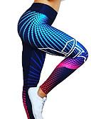 זול טייצים-בגדי ריקוד נשים גיזרה גבוהה מכנסי יוגה כחול רויאל כחול כהה ספורט הדפס דיגיטלי 3D ספנדקס טייץ רכיבה על אופניים חותלות זומבה ריצה כושר וספורט לבוש אקטיבי נושם ייבוש מהיר באט הרם טייץ גמישות גבוהה סקיני