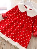 povoljno Haljinice za bebe-Dijete Djevojčice Aktivan Na točkice Dugih rukava Haljina Blushing Pink
