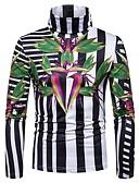 povoljno Muške jakne i kaputi-Majica s rukavima Muškarci - Osnovni / Elegantno Sport / Izlasci Cvjetni print / Color block Obala