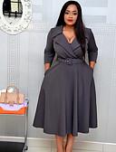 זול שמלות במידות גדולות-מידי אחיד - שמלה גזרת A בסיסי בגדי ריקוד נשים