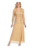 זול שמלות מקסי-סירה רחב מקסי אחיד - שמלה שני חלקים מידות גדולות בגדי ריקוד נשים