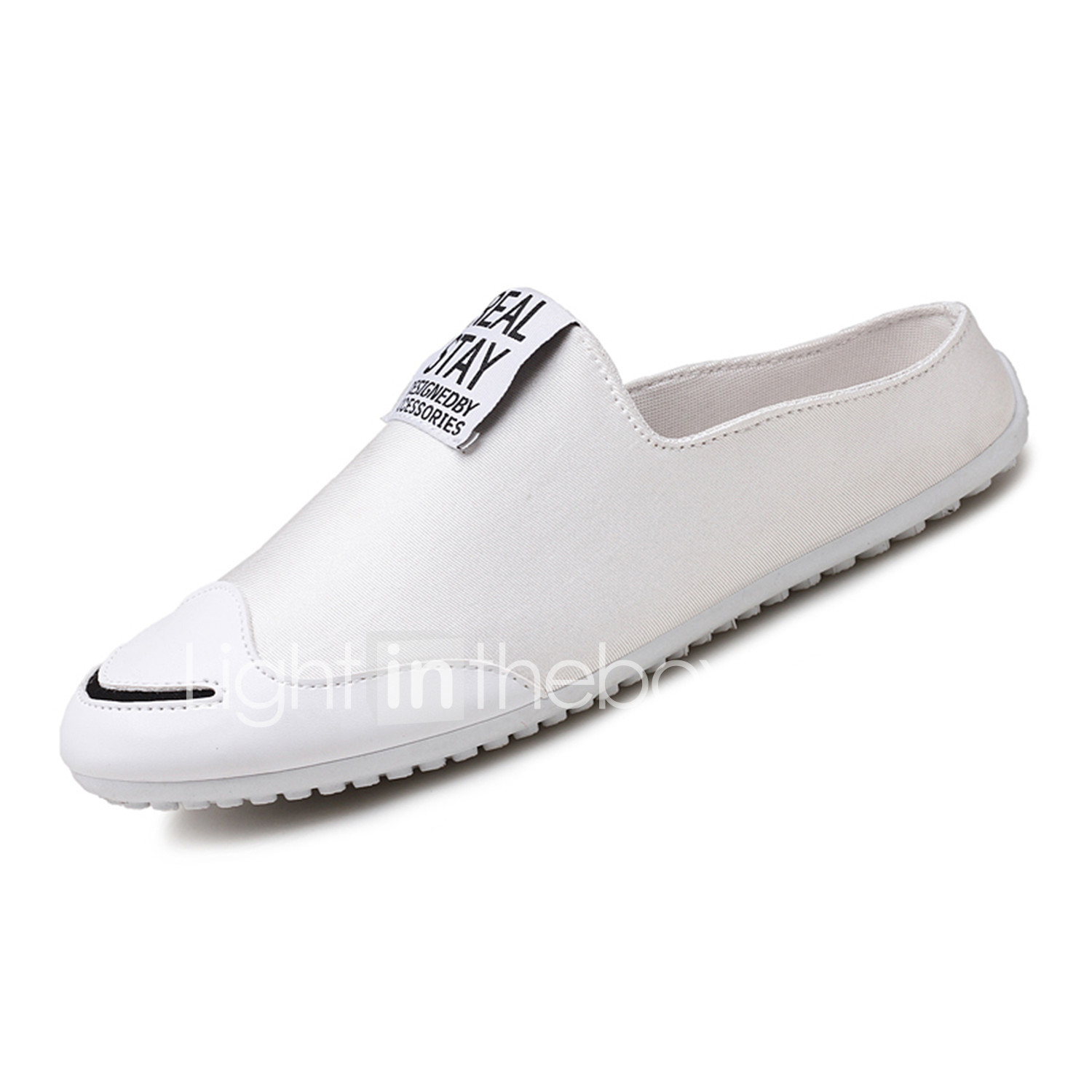 ed2f74a4ce7 Men s Light Soles Fabric Spring   Fall Comfort Clogs   Mules Walking Shoes  White   Black   Red  05998154