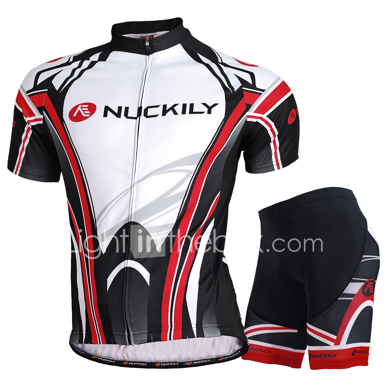 Nuckily Short Sleeve Cycling Jersey with Shorts - Black Bike Shorts Jersey  Clothing Suit Waterproof Breathable d8d318914