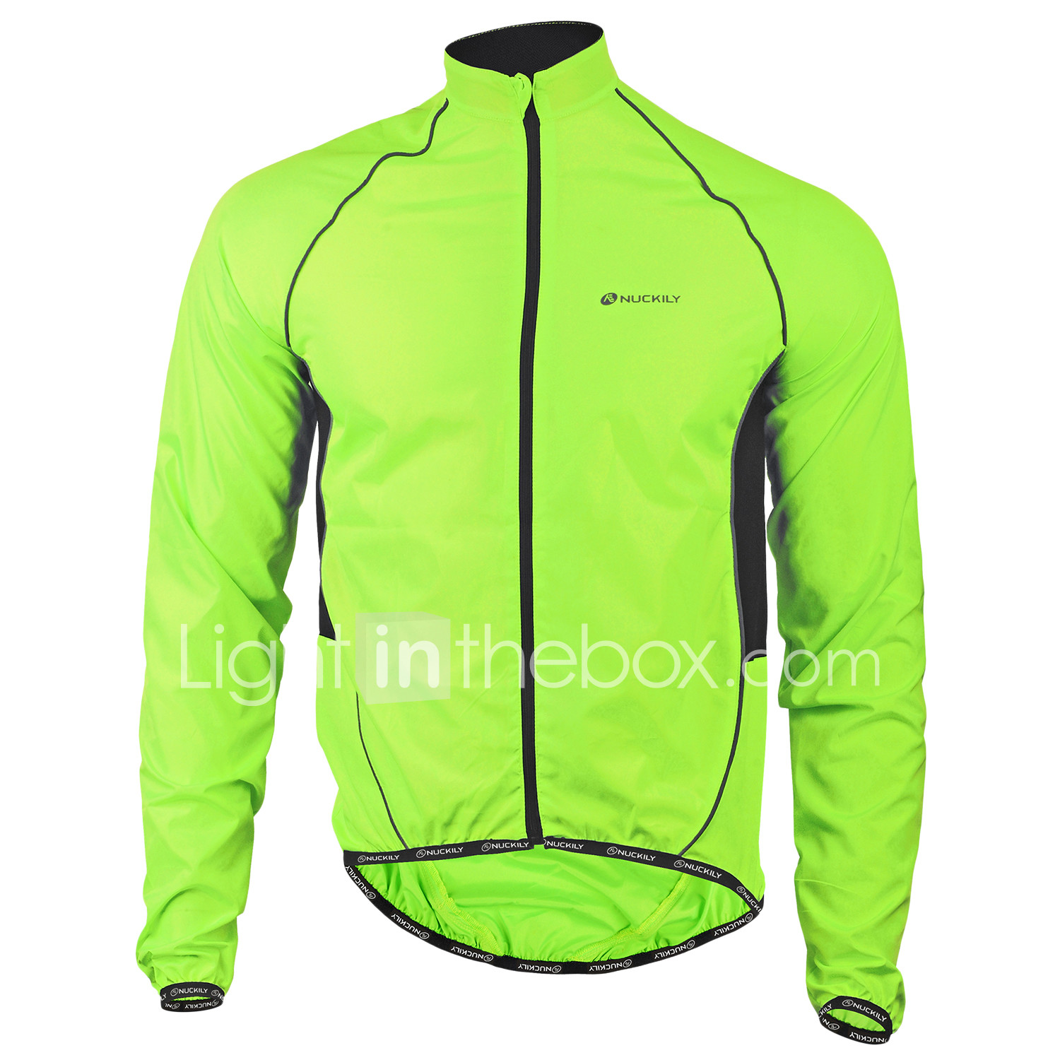 Nuckily Men s Cycling Jacket Bike Jacket Windbreaker Raincoat Waterproof  Windproof Breathable Sports Polyester Winter Green Mountain a409957de