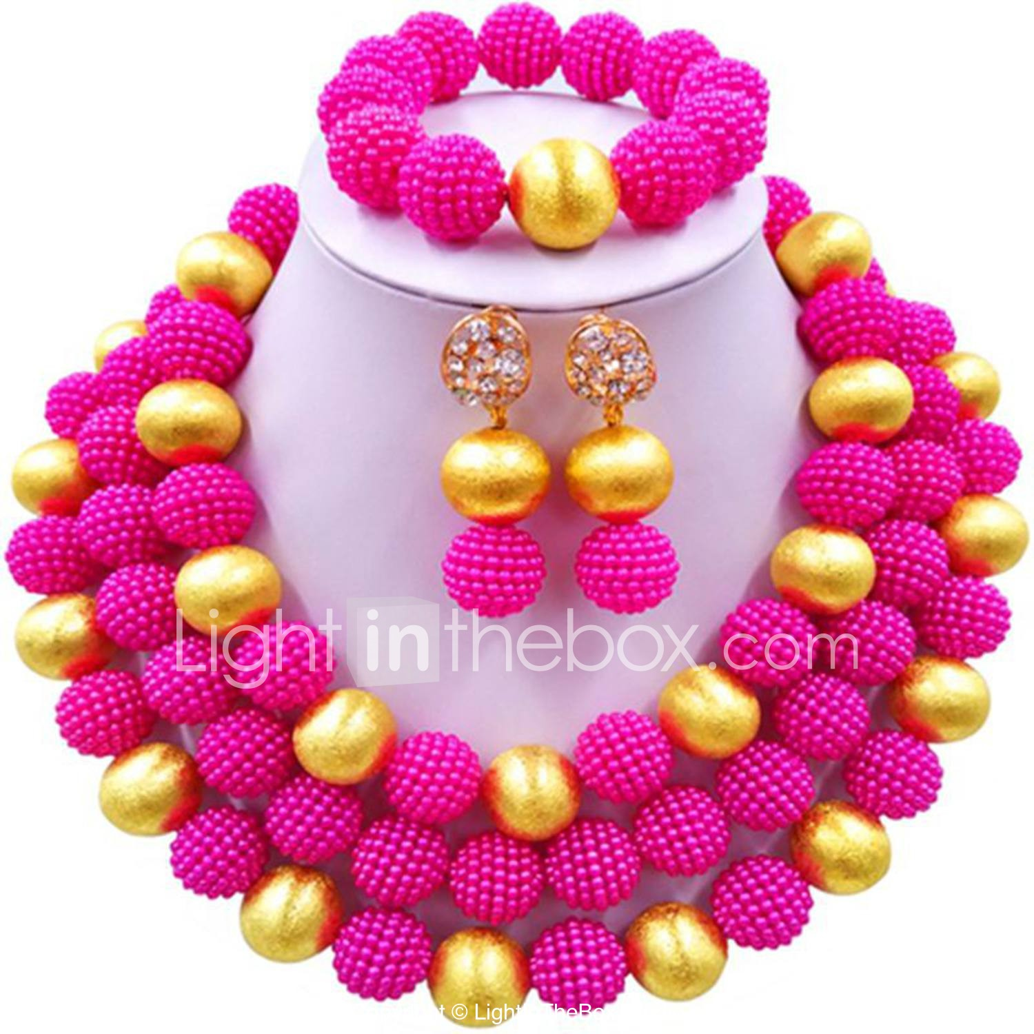 Women's Beaded Necklace Layered Ladies Fashion African Earrings