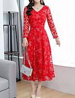 4c010d593a3d billige Kjoler-Dame Boheme   Sofistikerede Skede Kjole Blonder   Trykt  mønster Midi
