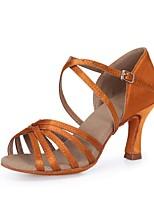b5be014b2363 Недорогие Туфли для танцев-Жен. Обувь для латины Сатин Сандалии Кубинский  каблук Персонализируемая Танцевальная