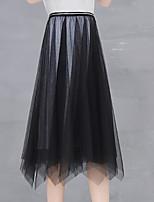 abordables Faldas para Mujer-Mujer Básico Línea A Faldas Un Color 3224ac76390