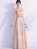 f59099136b5a economico Abiti da damigella-Linea-A Con decorazione gioiello Lungo Chiffon    Con strass