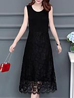 1e18907a9554 levne Dámské šaty-Dámské Vintage Elegantní Pouzdro Šaty - Jednobarevné